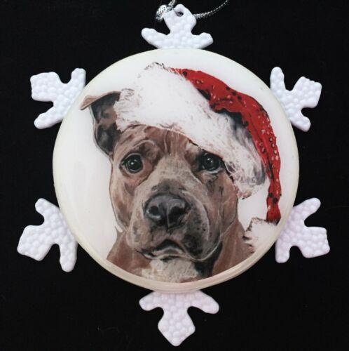 Pit Bull Terrier Dog Christmas Ornament