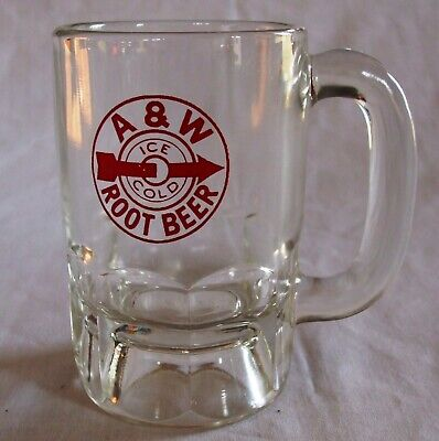 Uncommon Early A & W Root Beer Mug Red Bullseye Logo 4-3/8""