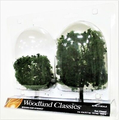 2 Pkg Ready Made - Woodland Classics Ready-Made Trees TR3513 Sun Kissed - 2/pkg