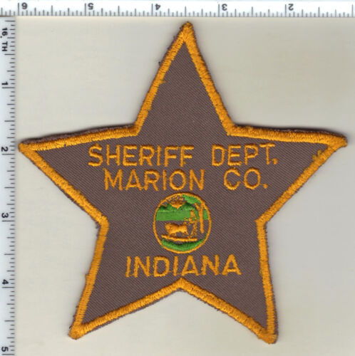 Marion County Sheriff Dept. (Indiana) uniform take-off Shoulder Patch from 1980s
