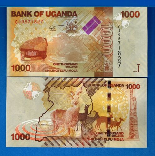 Uganda P-49 1000 Shillings Year 2015 Uncirculated Banknote Africa