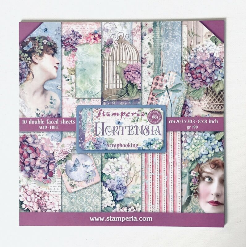 """Scrapbook Paper Pad By Stamperia 10 Vintage Themed Double Sided Pages, Size 8x8"""""""