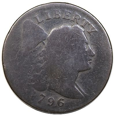 1796 Liberty Cap Large Cent, S-91, R.3, AG