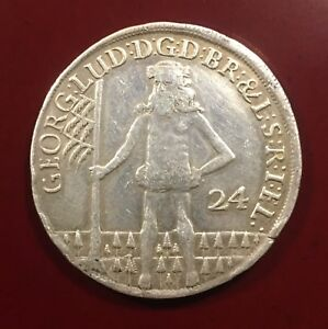 1698 - German States - 24 Mariengroshen  Silver Coin