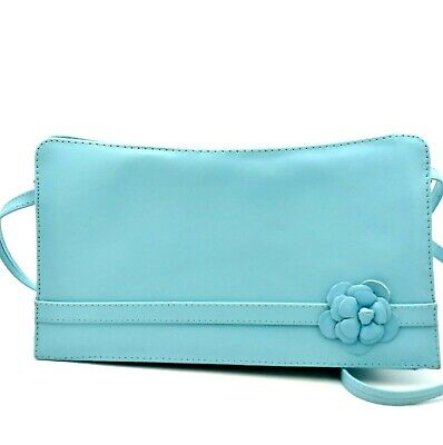 """Jacques Vert Blue Mermaid Handbag With Straps Convertible To Clutch Bag 10"""" x 5"""""""