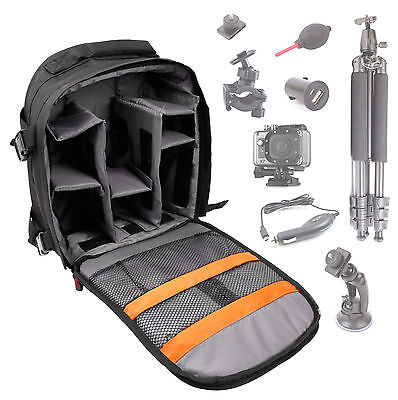 Black Action Camera Portable Rucksack/Bag for Action Pro X7
