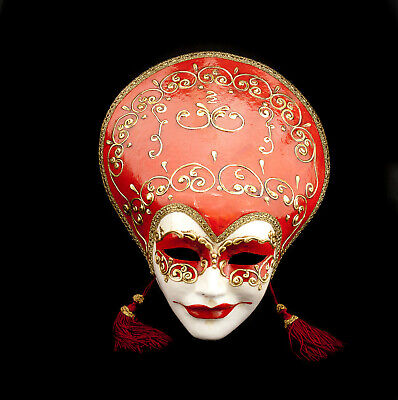 Mask from Venice Volto Liberty Red and Gold - Mask Venetian 280