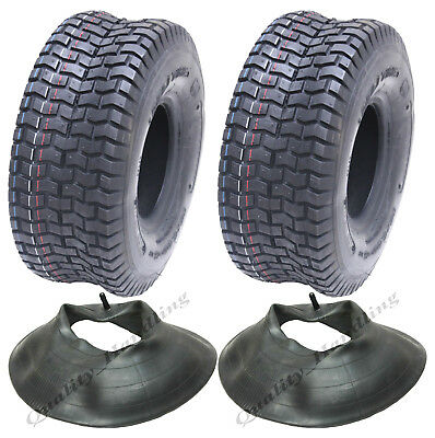 2 - 15x6.00-6 tyres and tube for grass mower, ride on lawnmower tyre - Deli tyre