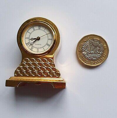 Vintage Quartz Miniature Mantel Desktop Carriage Clock Working Quartz Movement
