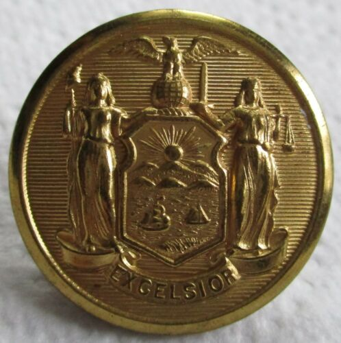 """American:""""NEW YORK POLICE DEPARTMENT COAT BUTTON"""" (Large, 28mm, NYPD, Waterbury)"""