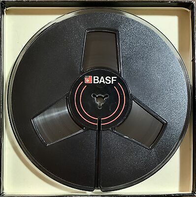 "BASF / EMTEC / RMGI 7"" Empty Reel, 1/4"" tape, New 3 Window Gray, NOS w/Box"