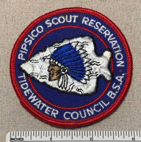 Vintage PiPSICO RESERVATION Boy Scout Camp Badge PATCH Tidewater Council BSA