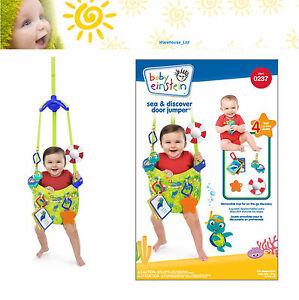 Baby Einstein Sea & Discover Door Jumper Door Bouncer 4 Months + Fun Toys