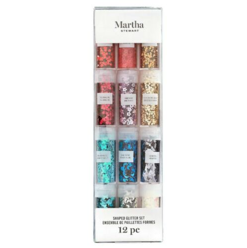 Martha Stewart SHAPED Glitter 12 Piece Set 30081407