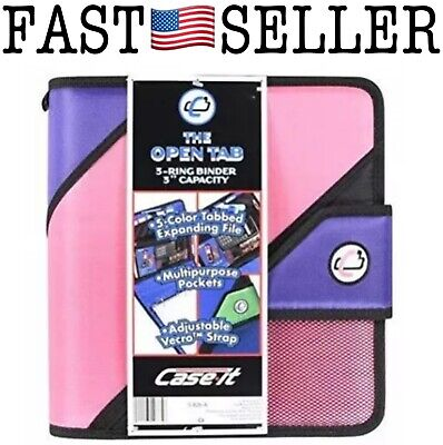 Case-it The Open Tab 2-inch 3-ring Binder 3-inch Capacity Pink - S-826-a