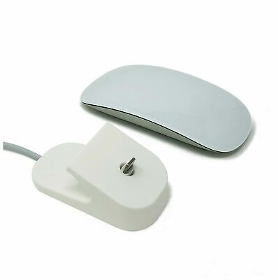 Charging Dock For Apple Magic Mouse 2, White – 3D Printed Charger iMac Macbook