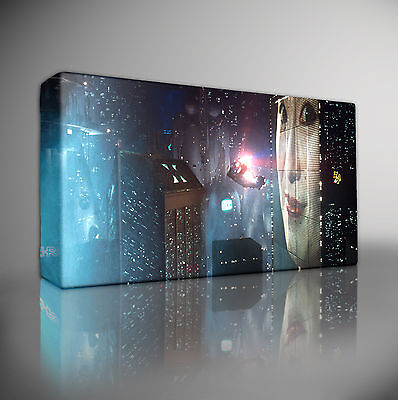 - BLADE RUNNER CITY - PREMIUM Giclee CANVAS Art Picture Print *Choose your size