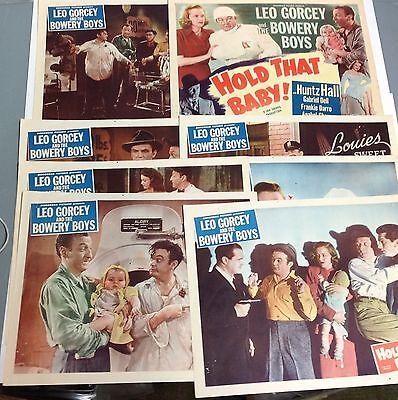 Original 1949  Hold That Baby  Lobby Card Set Huntz Hall Leo Grocey Bowery Boys