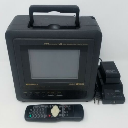 Sansui 6-Inch LCD Portable AC/DC Television w/ Built-In VCR, + Remote, CLD0065