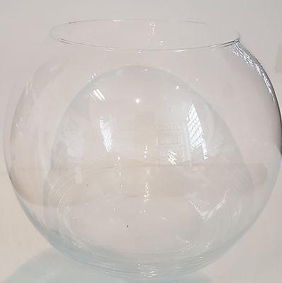 Kugelvase groß Vase mundgeblasenes Kristallglas  Durchmesser 30 cm Hohe ca.25 cm