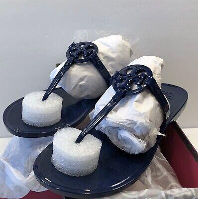 New Tory Burch Mini Miller Thong TPU Jelly Sandals Thongs Sz 6 M