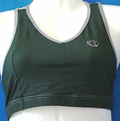 eb2dd3e78 PEARL IZUMI Black   Gray CYCLING Top SPORTS BRA w. LOGO   Cool Max LINER Sz  S