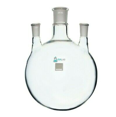 5l Round Bottom Receiving Flask - 3 Neck 2 - 2440 And 3445 Center
