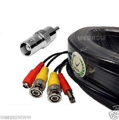 Premium Quality 60 Feet Video Power BNC RCA Cable for Q-See CCTV Cameras