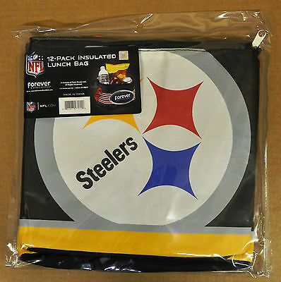Pittsburgh Steelers Insulated soft Lunch Bag Cooler New - BIG LOGO - 12 Pack (12 Pack Cooler)