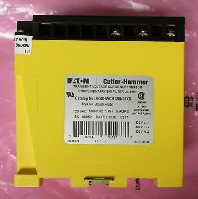 Eaton Cutler Hammer Agshwch120n05xs 120v Aegis Noise Filter A0as1h1026
