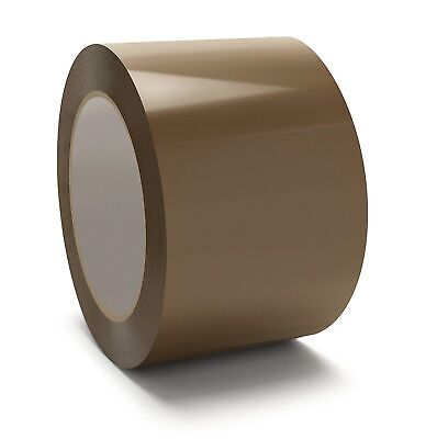 3 Inch x 110 Yards Brown/Tan Packing Tape 1.75 Mil Adhesive Seal Tapes 192 Rolls