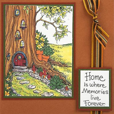 - Gnome Home, Wood Mounted Rubber Stamp STAMPENDOUS, NEW - R241