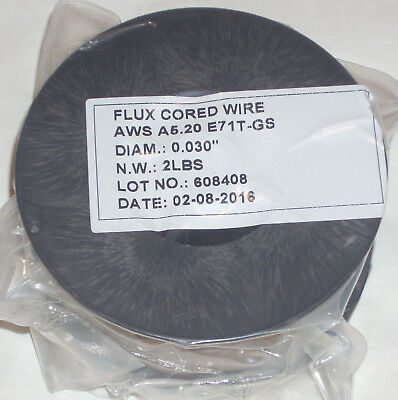 4lbs Flux Core E71t-gs Gasless Welding Wire .030 Diameter 2 2 Lb Rolls