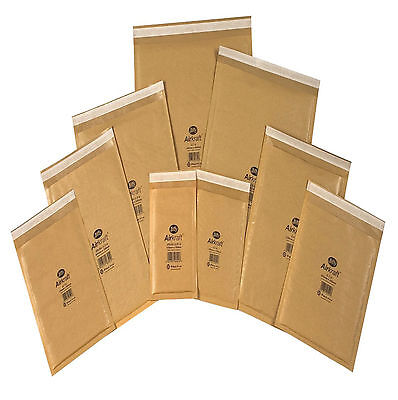 100 x JL0 GENUINE Jiffy bags, bubble-lined, padded envelopes gold 100x cd