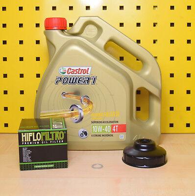 BMW R 1200 Gs Rt S Unidad HP2 Filtro de Aceite Llave Castrol Power1 10w40