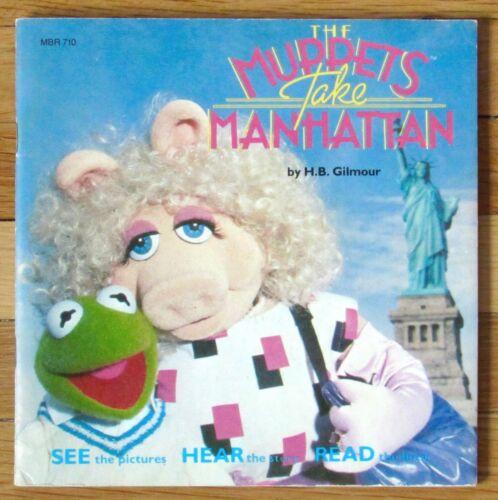 THE MUPPETS TAKE MANHATTAN Book & Record 33 1/3 RPM vinyl