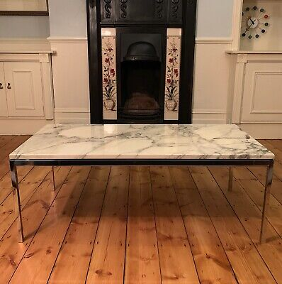 Stunning Near Vintage Florence Knoll Arabascato Marble Coffee Table Knoll Studio
