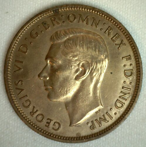 1945 Great Britain Penny Bronze Coin Uncirculated