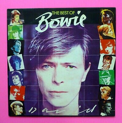 DAVID BOWIE The Best Of 1981 LP French *Misprint Cover GLAM ART Rock