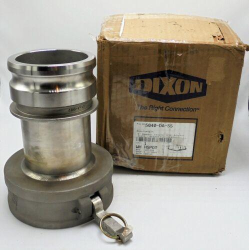 DIXON 5040-DA-SS CAM & GROOVE JUMP SIZE COUPLER x ADAPTER