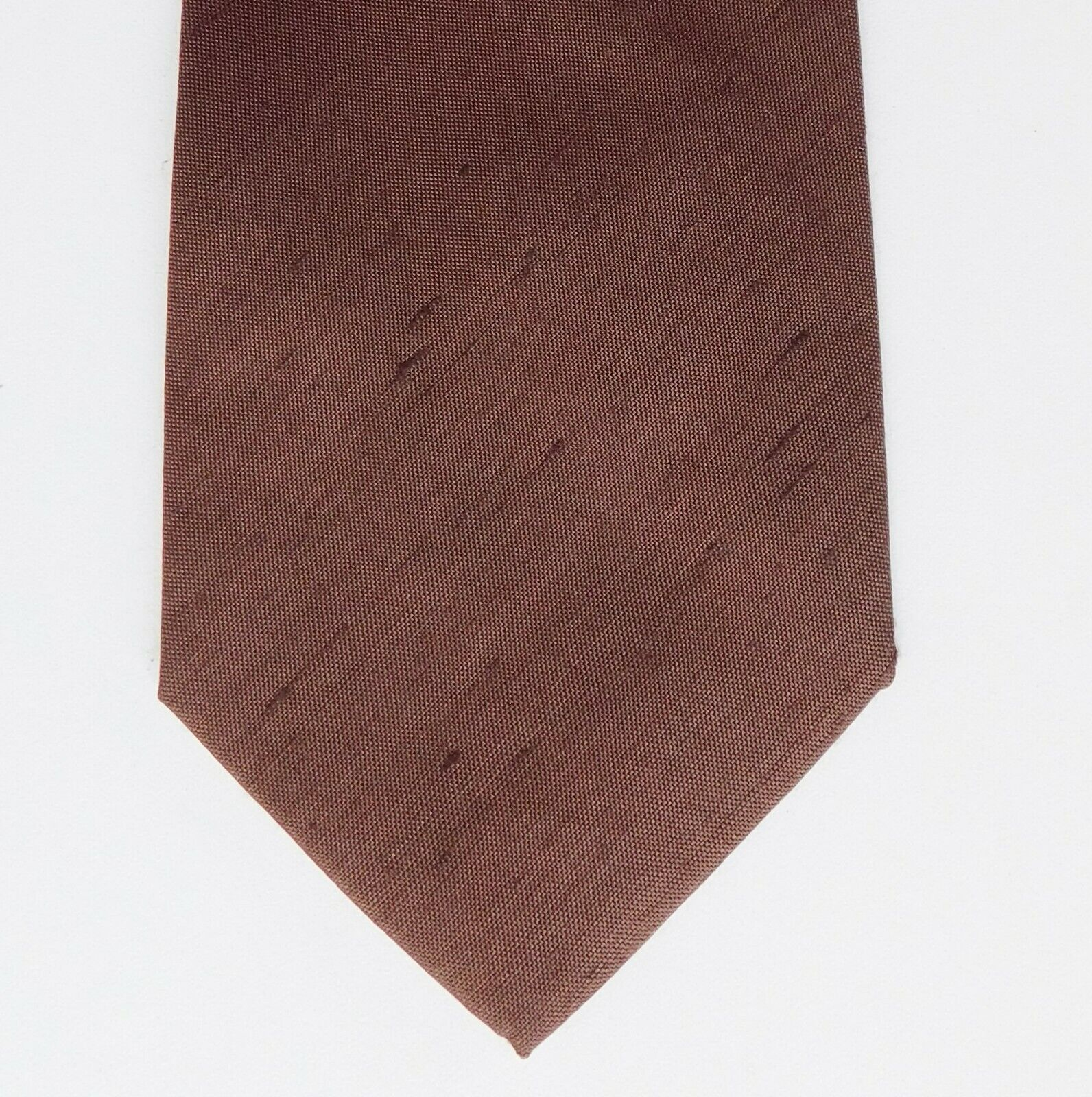 Textured silk tie NEW by Jose Piscador made in Belgium brown pure silk