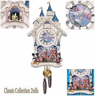 "BRADFORD EXCHANGE -""HAPPIEST TIMES EVER""-DISNEY CUCKOO CLOCK- NEW-IN STOCK NOW!"
