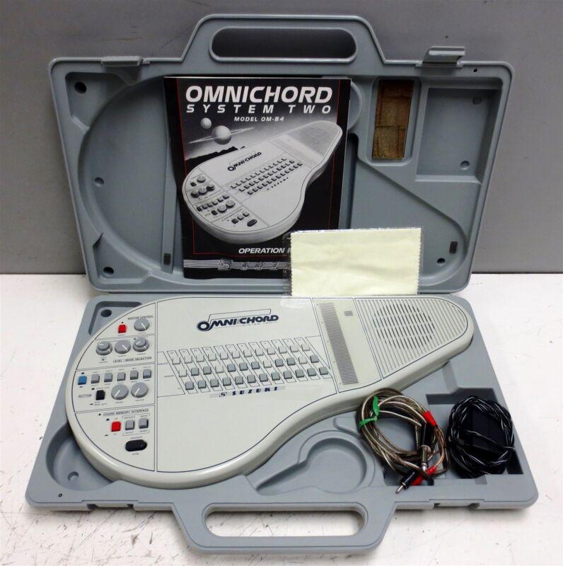 Vintage Suzuki Omnichord System Two OM-84 Digital Synthesizer w/ Case & Extras