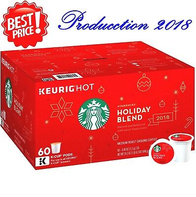 Starbucks Holiday Blend K-Cups 60 Count, Keurig-hot coffe k200, k50, k55