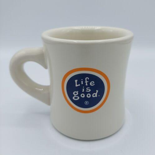 LIFE IS GOOD Coffee Mug ~Do what you like, like what you do~ Ivory Blue Orange