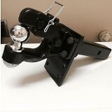"""5 ton PINTLE 2 5/16"""" Ball + Adjustable receiver BALL HITCH TOWING Heavy!!"""