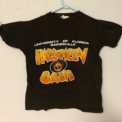 UNIVERSITY OF FLORIDA, GAINESVILLE HALLOWEEN BASH 1979 T SHIRT MED.PUMPKIN SHIRT](Gainesville Halloween)
