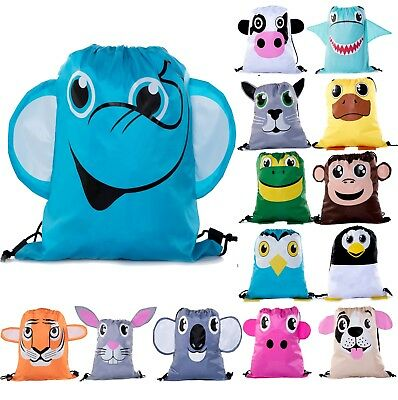 Party Favor Bags for Kids | Animal Drawstring Backpacks, Goodie Bags - Bags For Kids