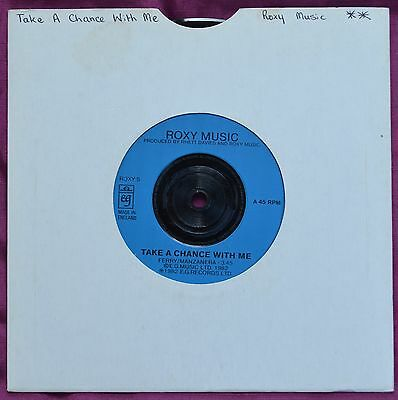 "Roxy Music – Take A Chance With Me 7"" – ROXY 5 – Ex"