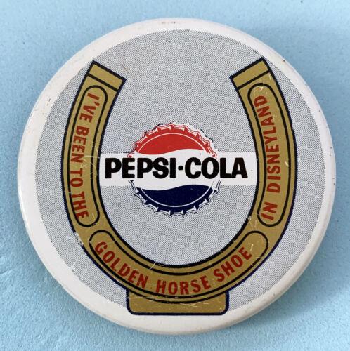 Disney Vintage Souvenir Pinback Button Pepsi-Cola Golden Horseshoe Revue c1960